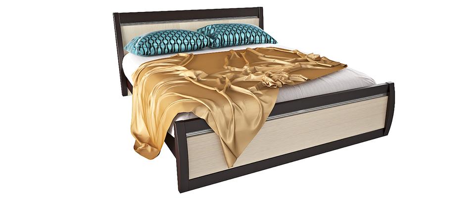 Кровать каркасная 200х160 Корсика без подъемного механизма (Ясень глянец)