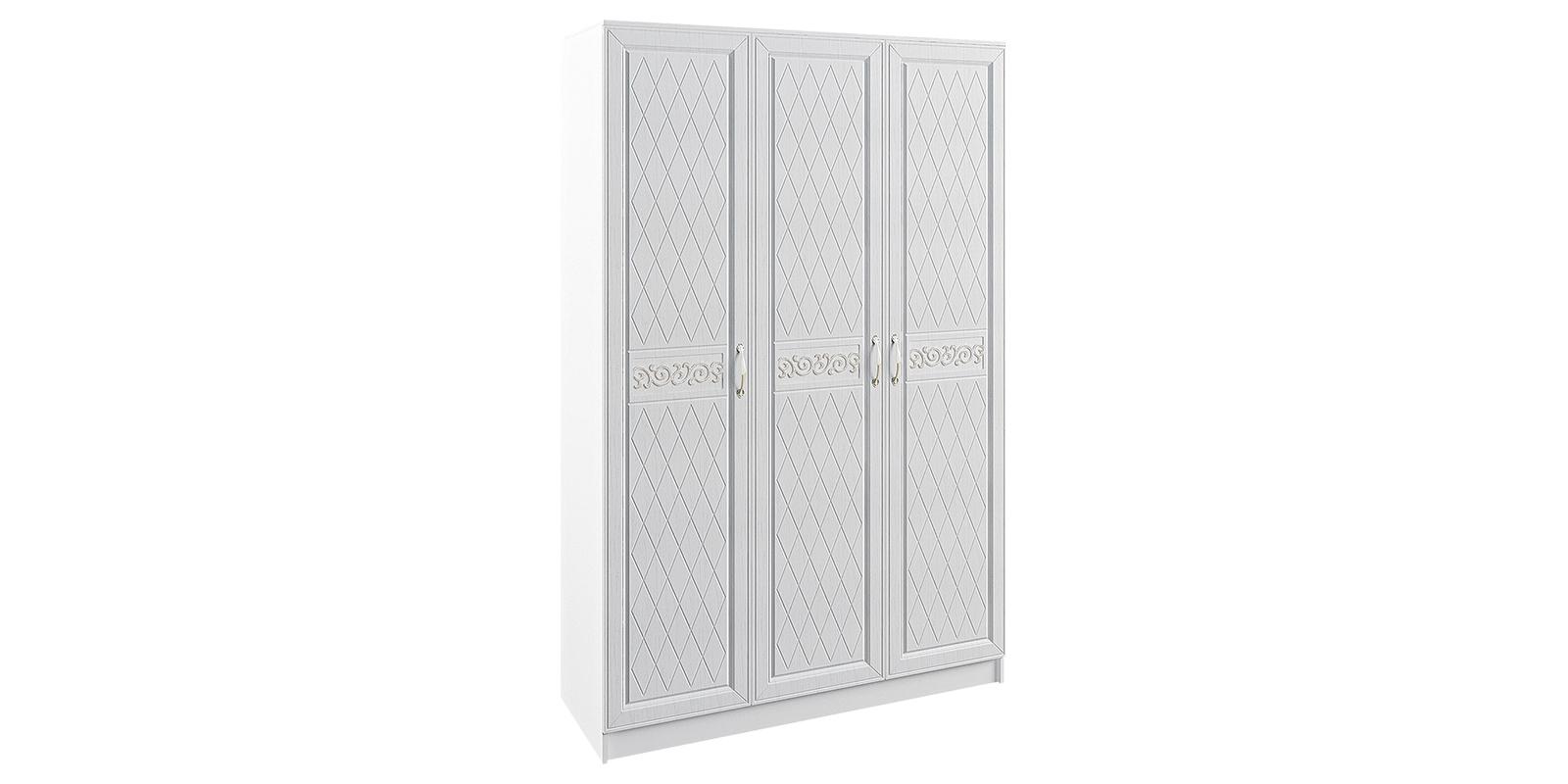 Шкаф распашной трехдверный Диамант вариант №2 (белый) Диамант