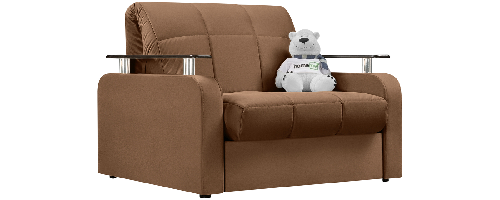Кресло тканевое Денвер Velure коричневый (Велюр) Денвер