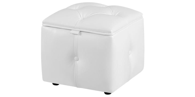 Пуф тканевый каркасный Малибу вариант №1 (Белый)