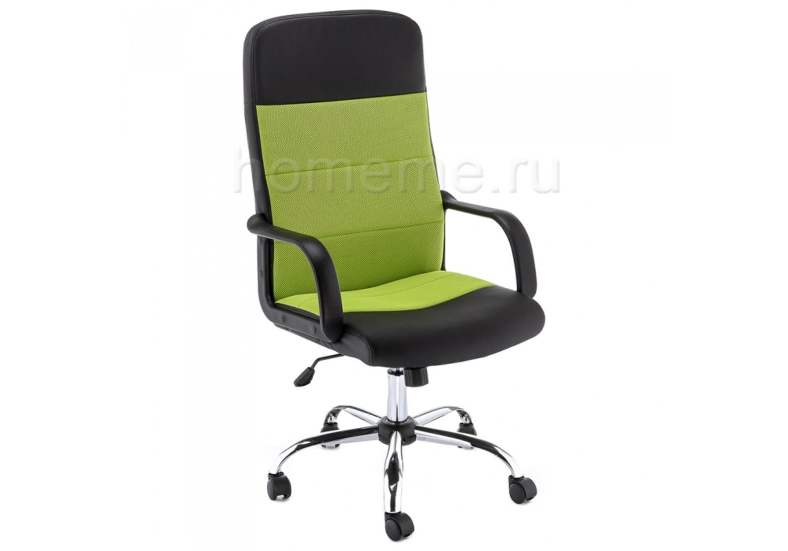 Кресло для офиса HomeMe Prosto черное / зеленое 11284 от Homeme.ru