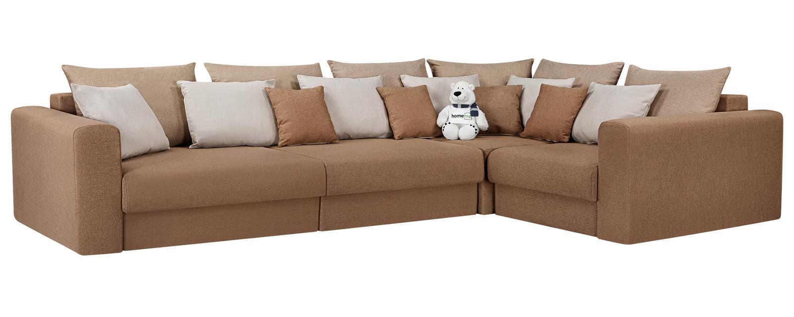 Модульный диван Медисон Вариант №2 Kiton коричневый (Рогожка)