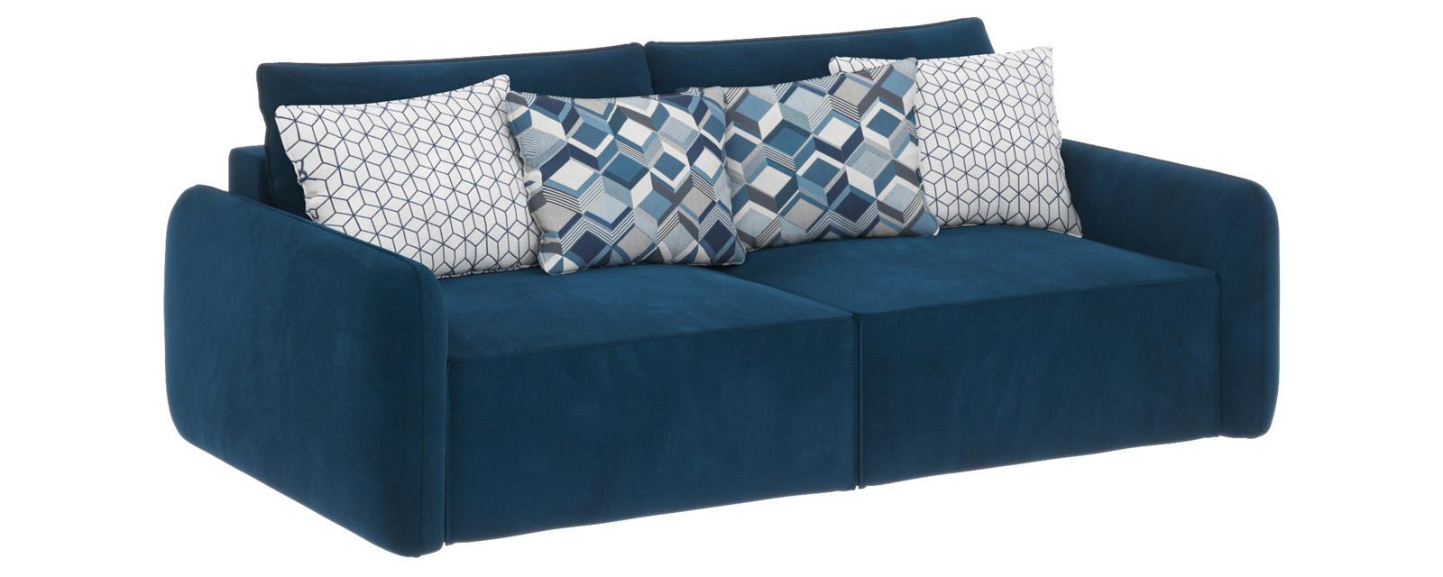 Купить Модульный диван Портленд вариант №7 Premier светло-синий (Микровелюр), HomeMe, Светло-синий