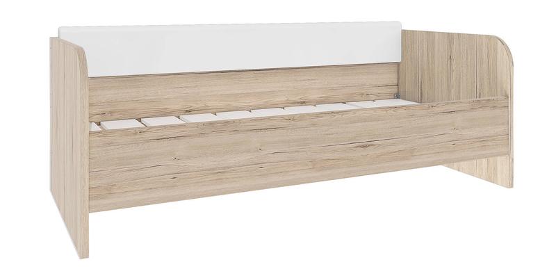 Кровать односпальная 200х90 Альмерия без подъемного механизма (дуб санремо/белый)