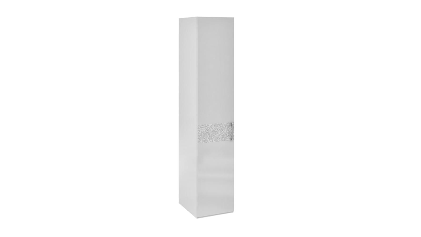 Шкаф распашной однодверный Давос вариант №2 (белый матовый)