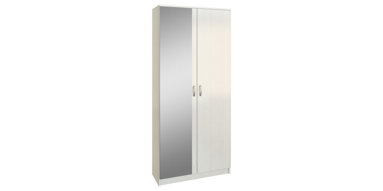 Шкаф распашной двухдверный Хельга вариант №2 (белый)