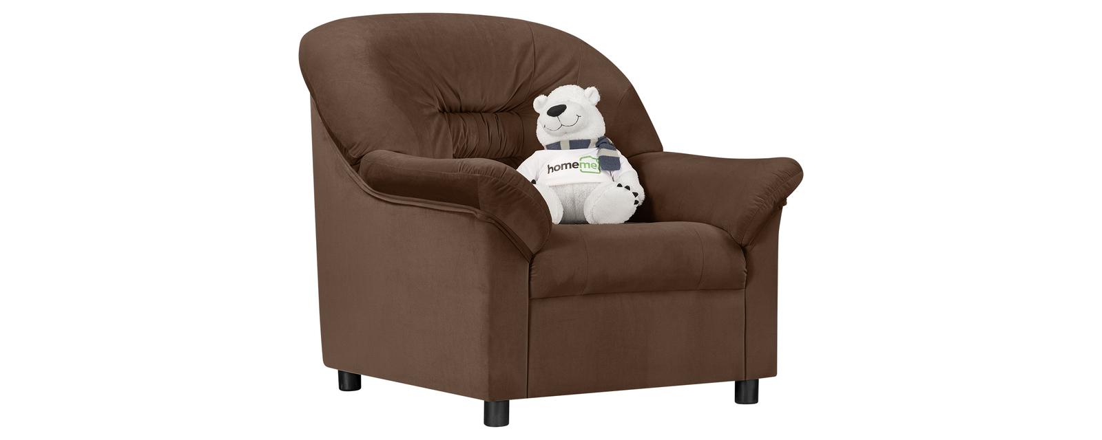 Кресло тканевое Честер Velure темно-коричневый (Велюр) Честер