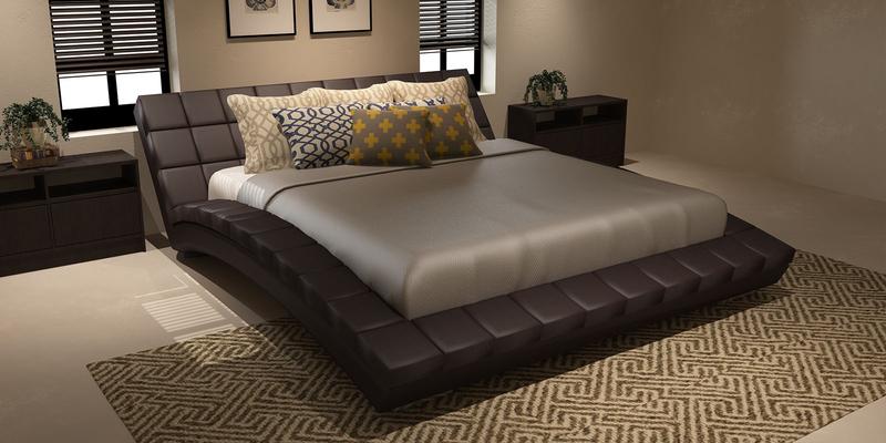 Мягкая кровать 200х160 Оливия с ортопедическим основанием (Luxe коричневый)