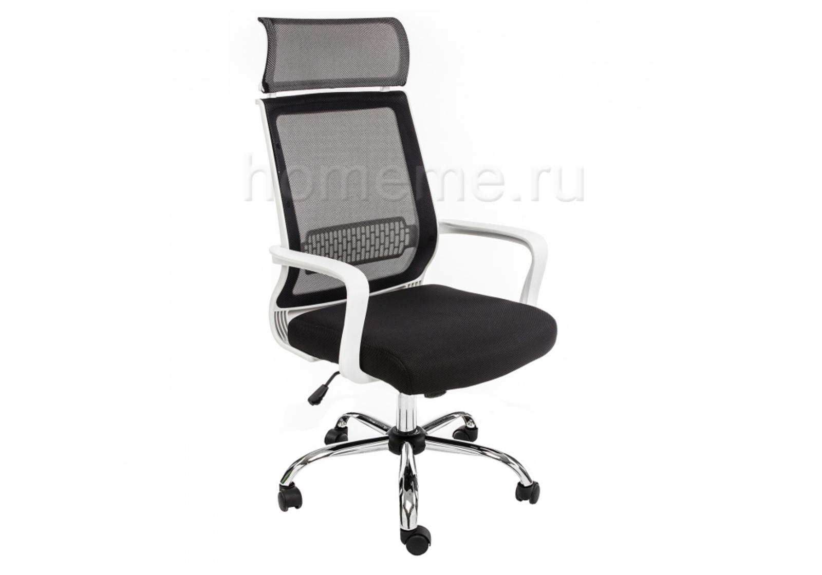 Кресло для офиса HomeMe Lion черно-белое 1656 от Homeme.ru