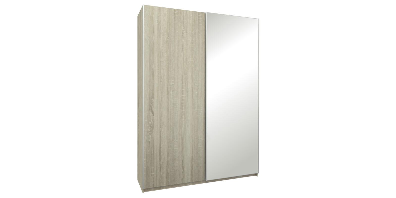 Шкаф-купе двухдверный Лофт 165 см (дуб сонома/зеркало)