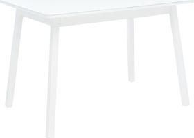 Стол раздвижной Leset Морон металл Белый, стекло Белое